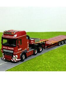 DAF XF SSC 6x4 MCO-PX 5 Axle Low Loader Nooteboom Trailer WSI Truck Models