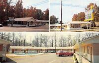 Calhoun Georgia~Holiday Motel~Restaurant~Neon Light Bulb Sign~1955 Station Wagon