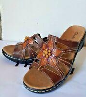 Clarks Women's Lexi Myrtle Multi Sandals Brown Size 8 M Style 65113