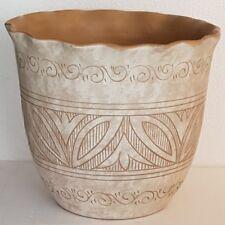 Portavaso decorato in ceramica beige - SBERNA DERUTA