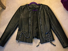 Hotel Particulier Black Leather Biker Jacket Size L