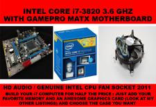 INTEL SOCKET 2011 X79 MOTHERBOARD + INTEL i7-3820 3.6GHZ QUAD CORE AND HEATSINK