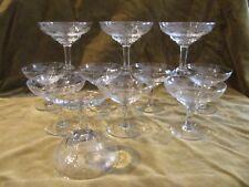11 Coppe da Champagne Vetro Inciso Ondoyant (Champagne Tazze)