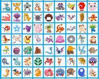 Pokemon Squares Digital Print Cotton Fabric Panel Anime Robert Kaufman 2 Sizes
