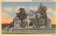 Jamestown New York~Prendergast Free Library~1937 Linen Postcard