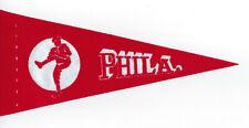 "1970's Philadelphia Phillies 9"" mini pennant vintage original rare style"