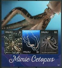 More details for palau marine animals stamps 2019 mnh mimic octopus molluscs 3v m/s i