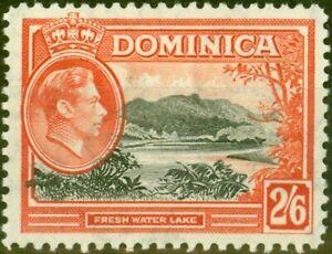 Dominica 1938 2s6d Black & Vermilion SG107 Fine Mtd Mint
