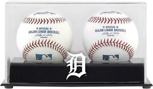 Detroit Tigers Deluxe Two Baseball Cube Logo Display Case - Fanatics