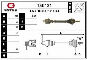 CARDAN POUR RENAULT 25 2.0,2.0 12V,2.2,2.8 V6,2.8 V6 INJECTION