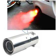 Superb Car LED Exhaust Pipe Spitfire Red Light Flaming Muffler Tip Universal