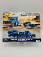 HOT WHEELS 2020 CAR CULTURE TEAM TRANSPORT '69 FORD MUSTANG BOSS 302 RETRO RIG