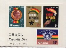 Ghana Día de la Republica Hojita año 1964 (DR-815)