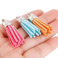 30pcs Velvet Leather Tassel Keychain Car Key Chain For Women Bag Tassel Pendants