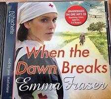 EMMA FRASER - When The Dawn Breaks MP3 CD Audio Book Unabridged