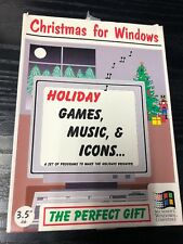 Christmas For Windows 3.5 Disc Microsoft Windows Compatible Holiday Games Music