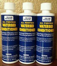 3 Lg. (8 OZ) PREMIUM BLUE MAGIC FIBER ALL PURPOSE WATERBED MATTRESS CONDITIONER