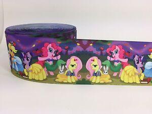 """BTY 3"""" Princess Ponies Grosgrain Ribbon Hair Bows Lisa"""