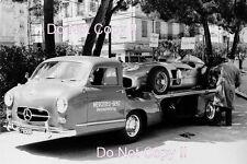 Mercedes Benz W196 F1 Car & Transporter Monaco Grand Prix 1955 Photograph
