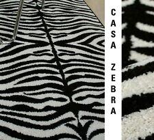 """WOW: Teppich """"CASA ZEBRA FELL"""" körnige Frisé Qualität Afrika Label NEU"""