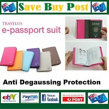Anti-Degaussing Passport Wallet Travel Holder Cover Anti Magnetic Scan or Damage