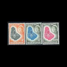 Barbados, Sc #254-56, MNH, 1962, Scouts, Maps, 1SFD