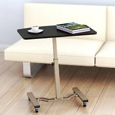 Laptop Cart Rolling Desk Adjustable Height Computer Stand Mobile Table Office