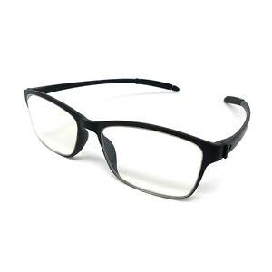 PariDeno Kunststoff Lesebrille Brille Sehhilfe Schwarz Bügel flexibel biegsam