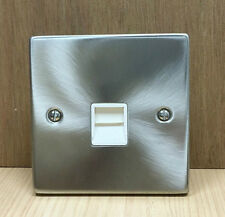 Click Vpsc120wh Victorian Satin Chrome 1g Master Telephone Socket Outlet