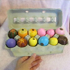 Vintage Lot of 12 Hand Painted Ceramic Easter Eggs