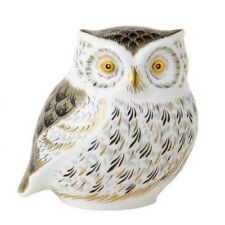 New Royal Crown Derby 1st Quality Little Grey Owl Paperweight with Gift Box