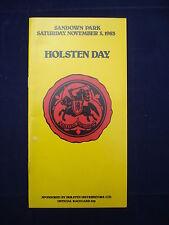 Horse racing - Race Card - Sandown - November 5th 1983 - Holsten Day