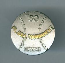 1980 Hawaii, Softball Tournament, Japan Girls High School Team Pin