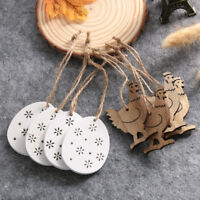 Wooden Chicken Rabbit Easter Egg Party Hanging Decor Home Wood Ornament Craft AU