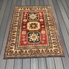Excellent Condition Ready To Go Handmade Kazak Area Rug 5' X 3' 7 Inches