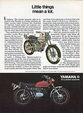 1971 Yamaha 90cc HT-1 Motorcycle Little Things Mean a Lot Print Ad.