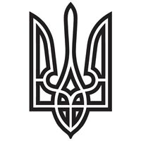 UKRAINE UKRAINIAN FLAG COAT OF ARMS TRYZUB CUSTOM VINYL DECAL STICKER (U-01)
