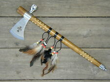 Indian Tomahawk Hatchet Replica Axe with Functional Peace Pipe