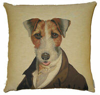 """JACK RUSSELL ARISTODOGS 18"""" TAPESTRY CUSHION COVER"""