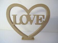 """Coeur découpé """"amour"""" libre debout grand mdf 18mm d'épaisseur"""