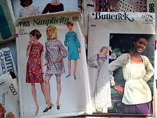 Vintage Mixed LOT of 24 Dress Patterns (McCall's, Simplicity, Butterick, Vogue)