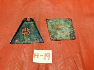 MG TD, Mounting Bracket & Cover Plate, Original, !!