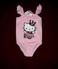 GIRLS PINK HELLO KITTY GYMNASTIC DANCE LEOTARD OUTFIT SIZE 7 - 8 MEDIUM NWT