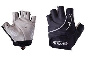 Carnac Superleggero Fingerless Cycling Gloves Race Mitts Magnetic Padded Black