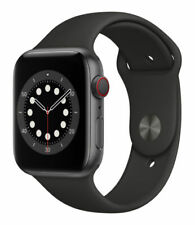 Apple Watch Series 6 44mm Grigio Siderale Alluminio Cassa con Nero Cinturino Sport - Regular (GPS + Cellular) (MG2E3TY/A)