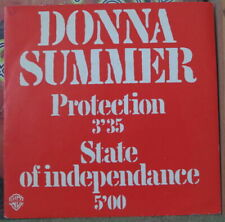 DONNA SUMMER PROTECTION/STATE OF INDEPENDANCE PROMO FRENCH SP WB 1982