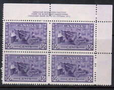 Canada #261 Very Fine Never Hinged Plate #1 UR Block