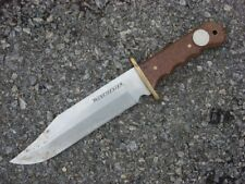 ONE 14 INCH OVERALL WINCHESTER BIG BOWIE HUNTING FIXED BLADE KNIFE.