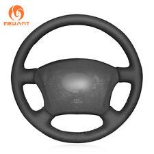Black Leather Steering Wheel Cover for Old Toyota Land Cruiser Prado 120 Lexus