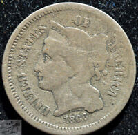 1866 Three Cent Nickel, Very Good Condition, Free Ship, Buy 4 get $5 Off, C5160